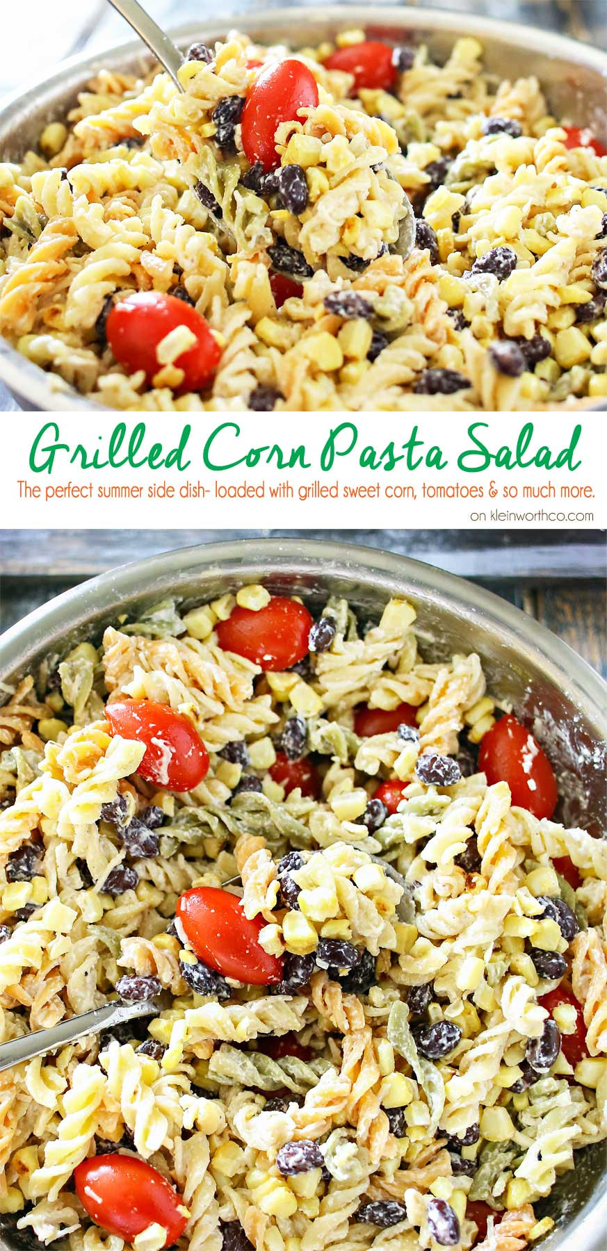 Christmas Side Dishes For A Crowd  Grilled Corn Pasta Salad Kleinworth & Co