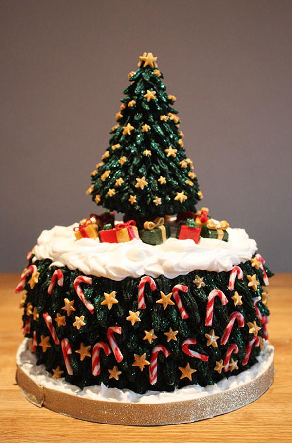 Christmas Tree Cakes  Christmas Tree Birthday Cake Designs – Happy Holidays