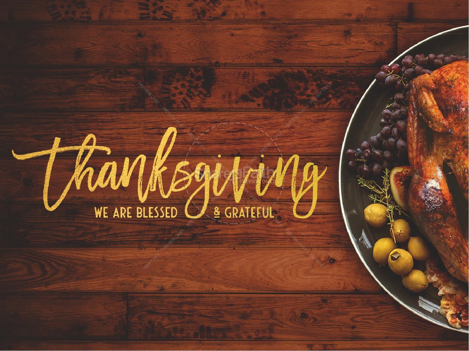 Church Thanksgiving Dinner  Prayer for Thanksgiving Church PowerPoint