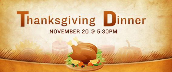 Church Thanksgiving Dinner  All Church Family Thanksgiving Dinner
