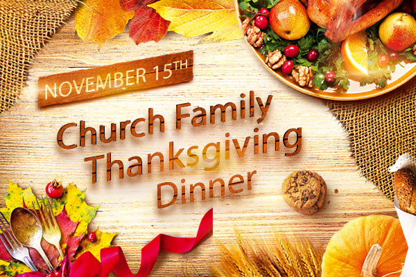 Church Thanksgiving Dinner  First Christian Church