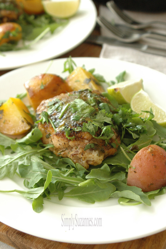 Cilantro Lime Chicken Thighs  Simply Suzanne s AT HOME cilantro lime chicken thighs