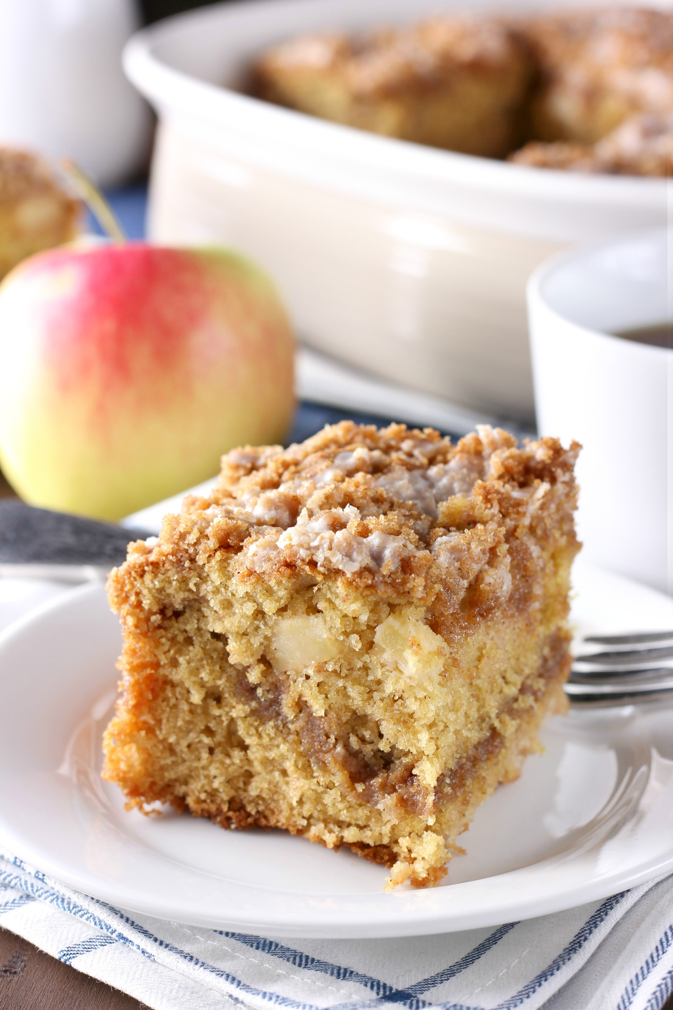 Cinnamon Coffee Cake Recipe  Cinnamon Swirl Apple Coffee Cake Whole Wheat A Kitchen