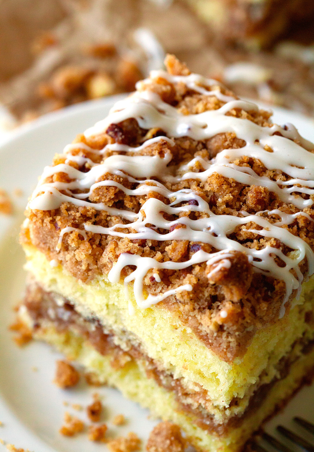 Cinnamon Coffee Cake Recipe  Extreme Crumb Cinnamon Roll Coffee Cake