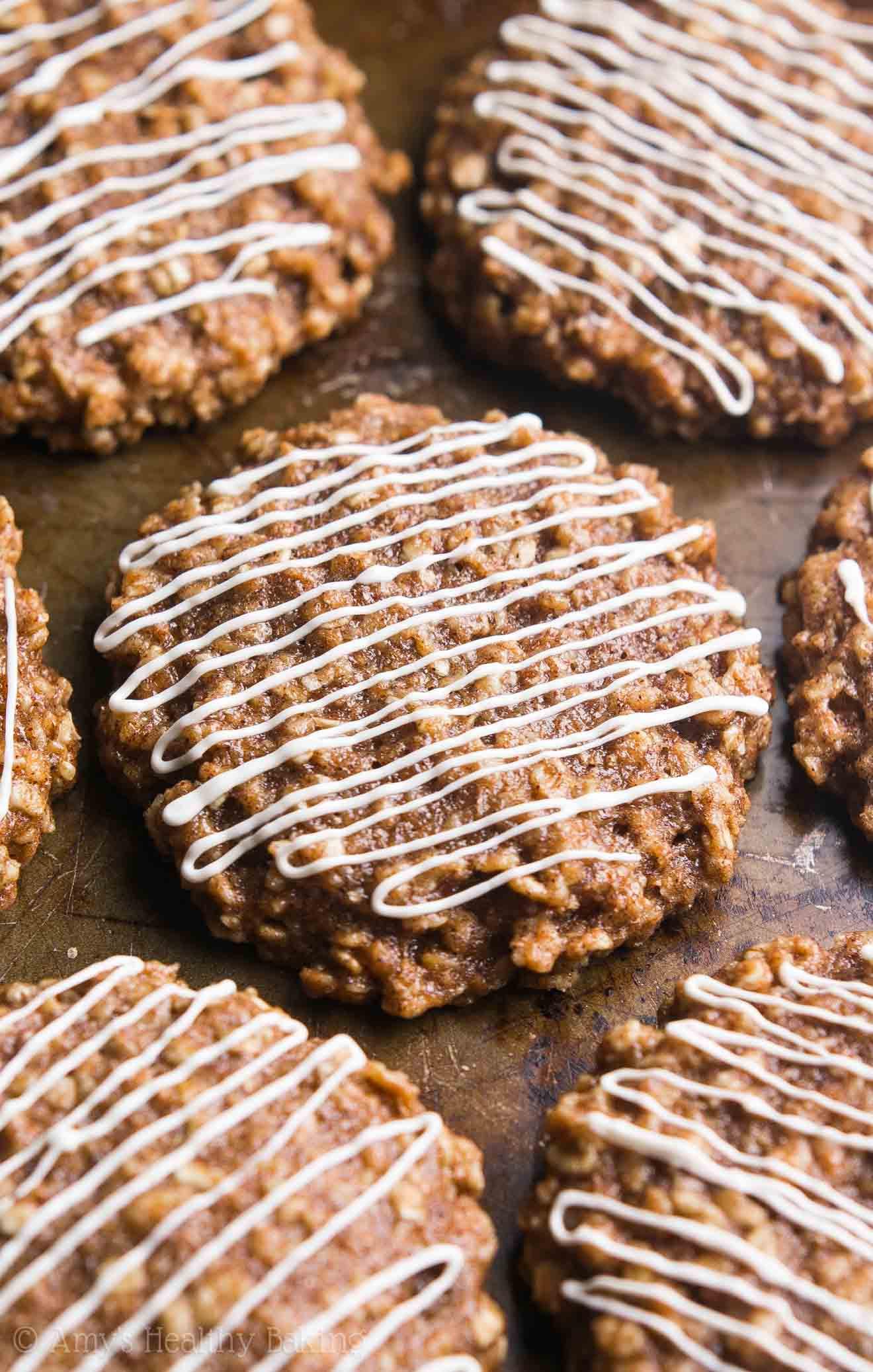 Cinnamon Oatmeal Cookies  Cinnamon Roll Oatmeal Cookies