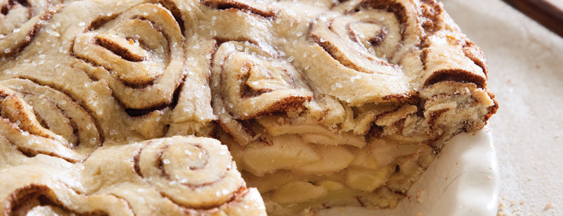 Cinnamon Roll Apple Pie  Home Bake from Scratch