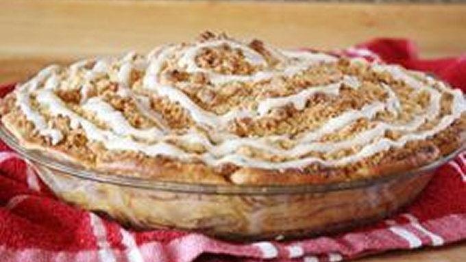 Cinnamon Roll Apple Pie Recipe  Cinnamon Roll Dutch Apple Pie recipe from Tablespoon