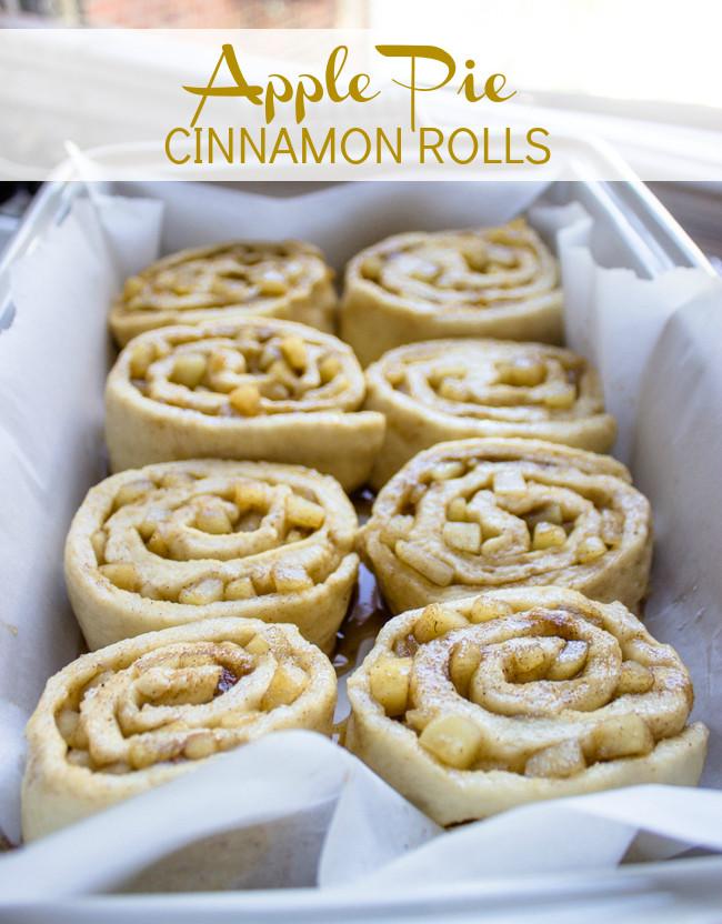 Cinnamon Roll Apple Pie Recipe  Apple Pie Cinnamon Rolls with Cream Cheese Icing