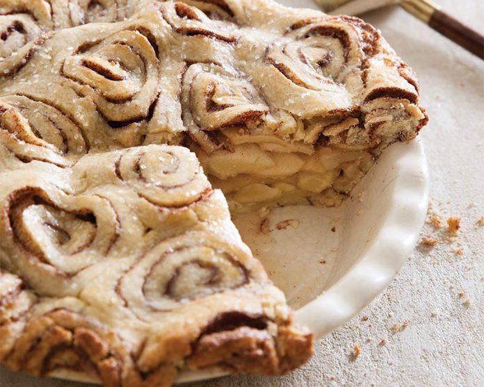Cinnamon Roll Apple Pie Recipe  Cinnamon Roll Apple Pie Bake from Scratch