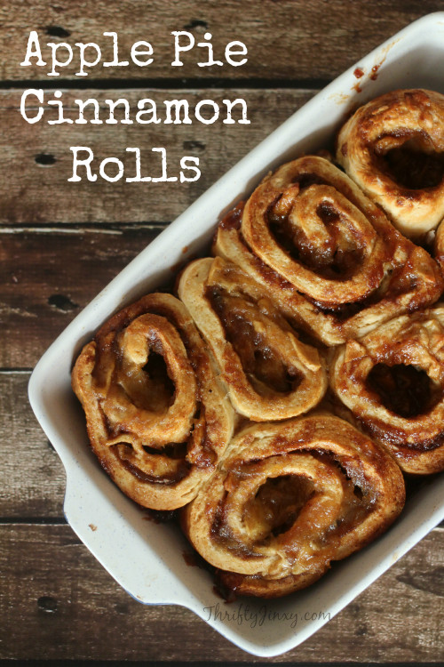 Cinnamon Roll Apple Pie Recipe  Quick and Easy Homemade Cinnamon Rolls with No Yeast