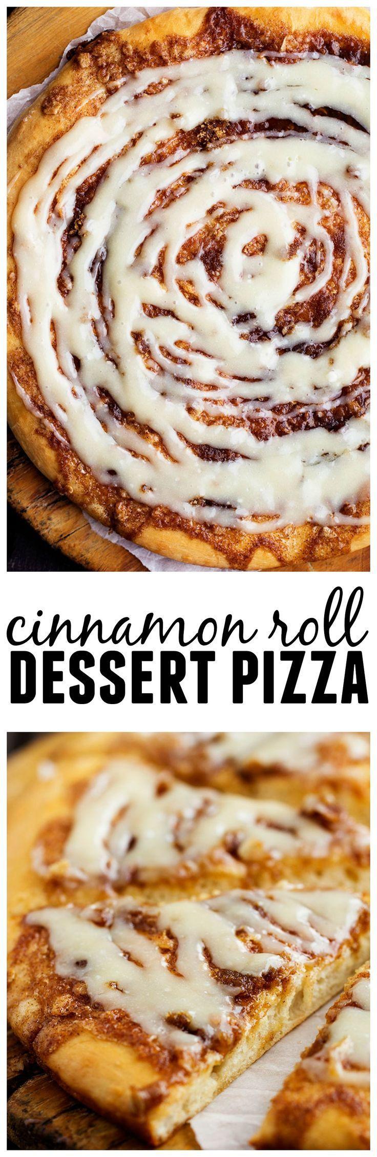 Cinnamon Roll Dessert  Cinnamon Roll Pizza Recipe — Dishmaps