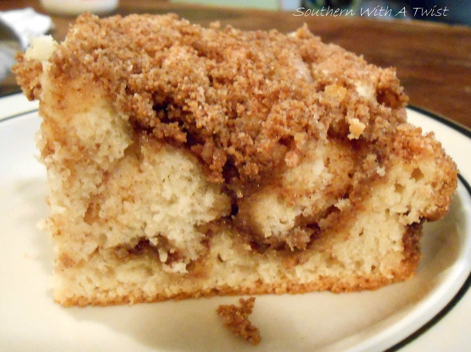 Cinnamon Streusel Coffee Cake  Southern With A Twist Cinnamon Streusel Coffee Cake