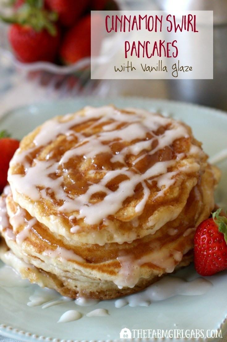Cinnamon Swirl Pancakes  Cinnamon Swirl Pancakes With Vanilla Glaze The Farm Girl