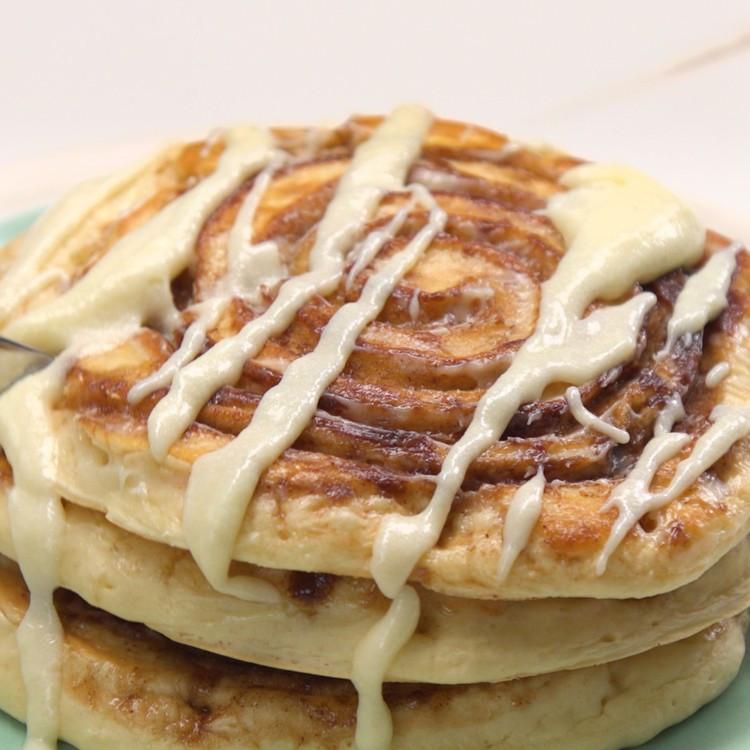Cinnamon Swirl Pancakes  cinnamon swirl pancakes tasty