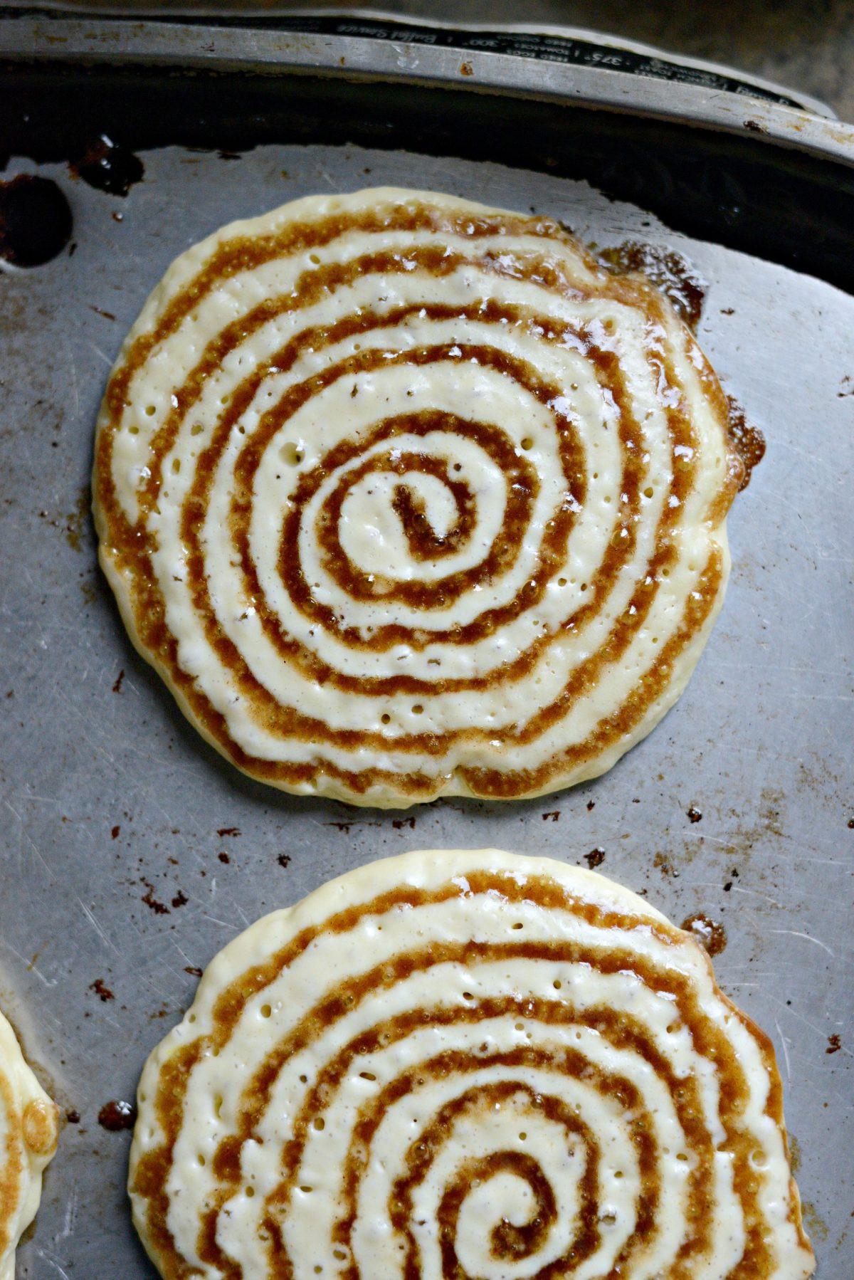 Cinnamon Swirl Pancakes  Cinnamon Swirl Pancakes