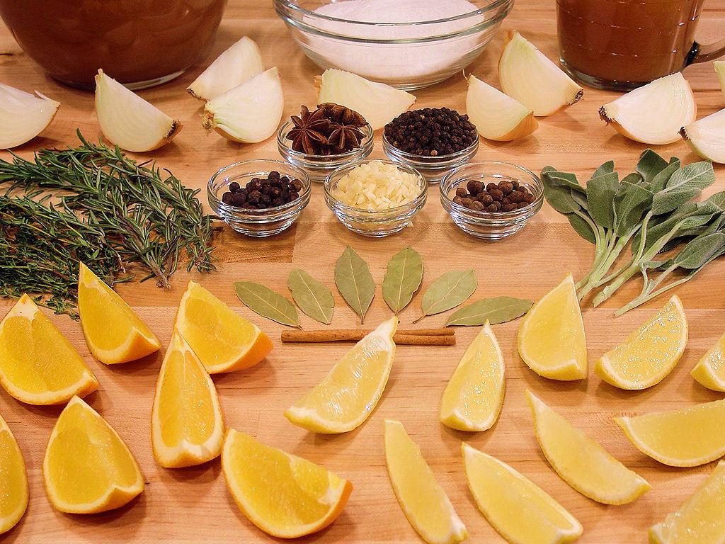 Citrus Turkey Brine  Cider & Citrus Turkey Brine with Herbs and Spices Wicked