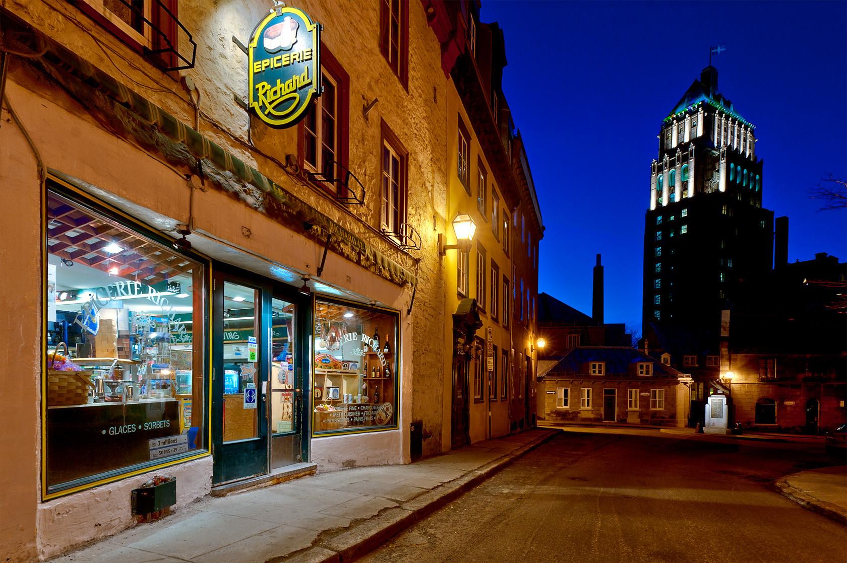 City Dinner St.Louis  Exploring Quebec City Blue Hour the City Heure Bleue