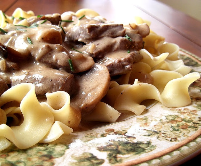 Classic Beef Stroganoff  Classic Beef Stroganoff from Fine Cooking Magazine