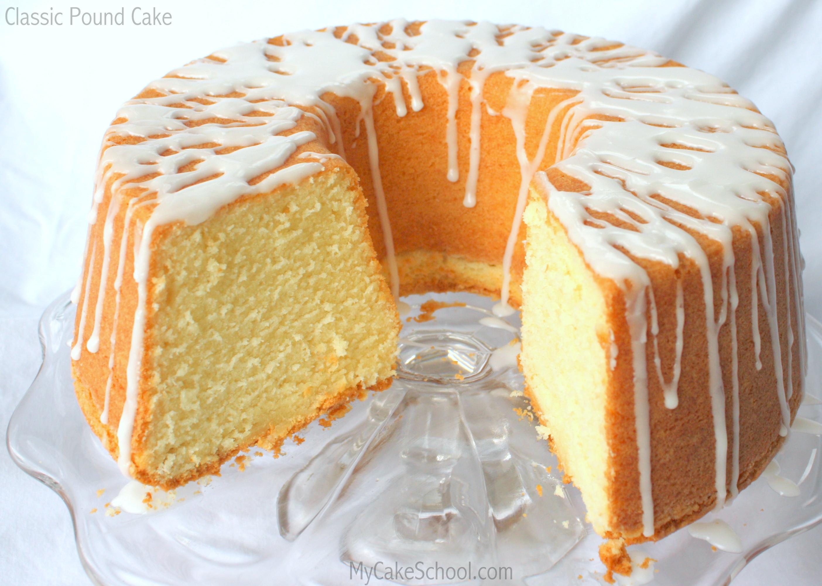 Classic Pound Cake Recipe  Classic Pound Cake Recipe by My Cake School