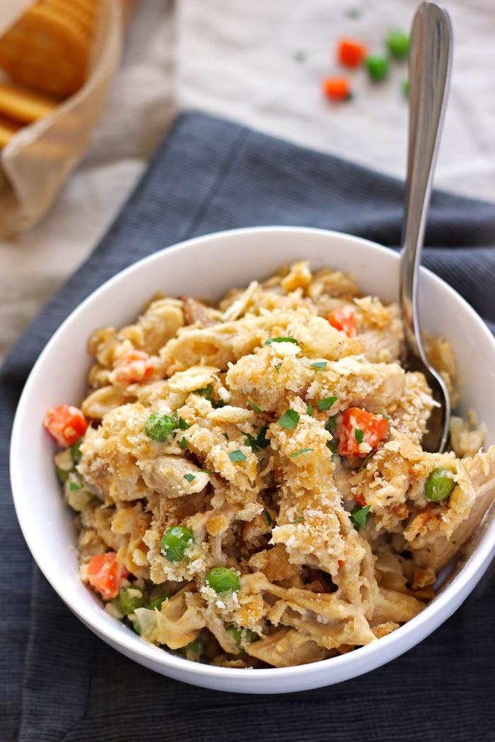 Classic Tuna Casserole  Tuna Noodle Casserole – Pass the Challah