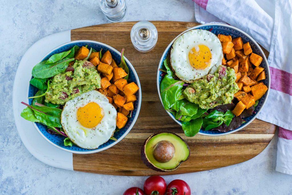 Clean Eating Breakfast  Clean Eating Guacamole Egg Sweet Potato Breakfast Bowls