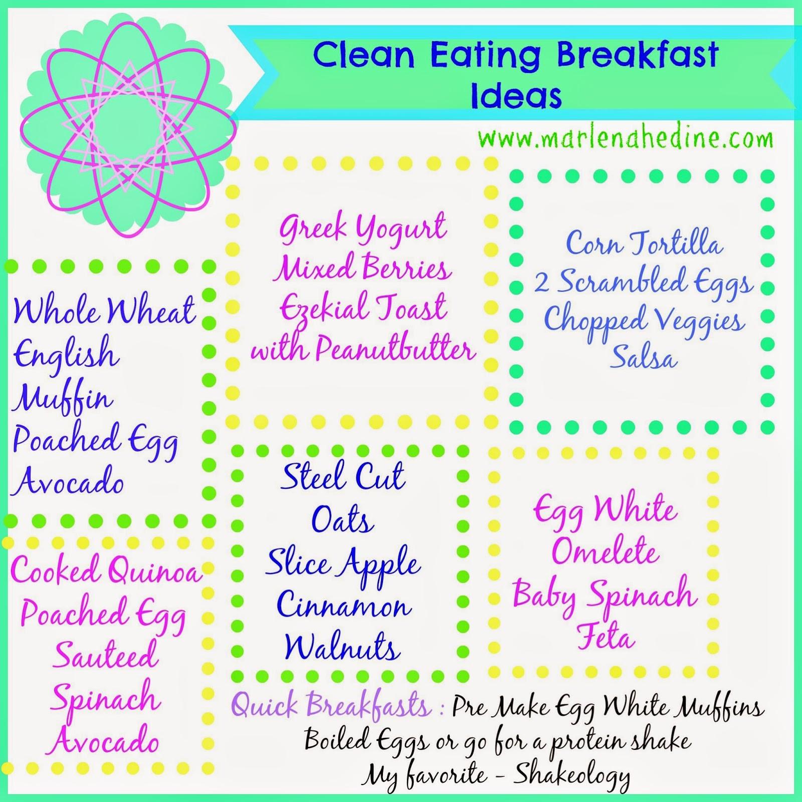 Clean Eating Breakfast Ideas  Eating Healthy Eating Healthy Ideas