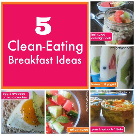 Clean Eating Breakfast Ideas  17 Best images about Breakfast on Pinterest