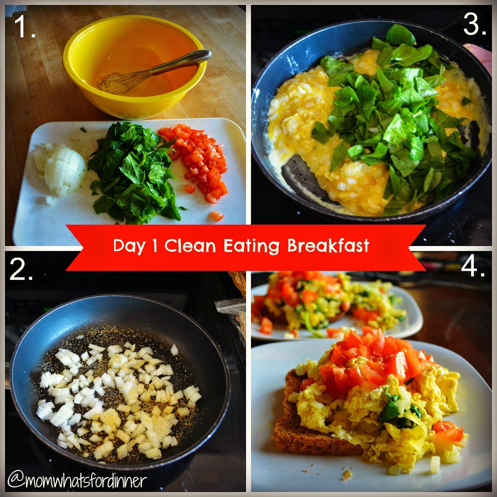 Clean Eating Breakfast  Mom What s For Dinner Day one clean eating breakfast