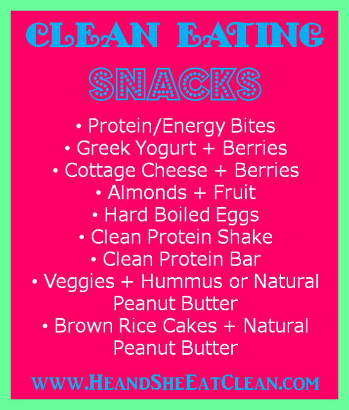 Clean Eating Snacks  Clean Eating Snacks — He & She Eat Clean