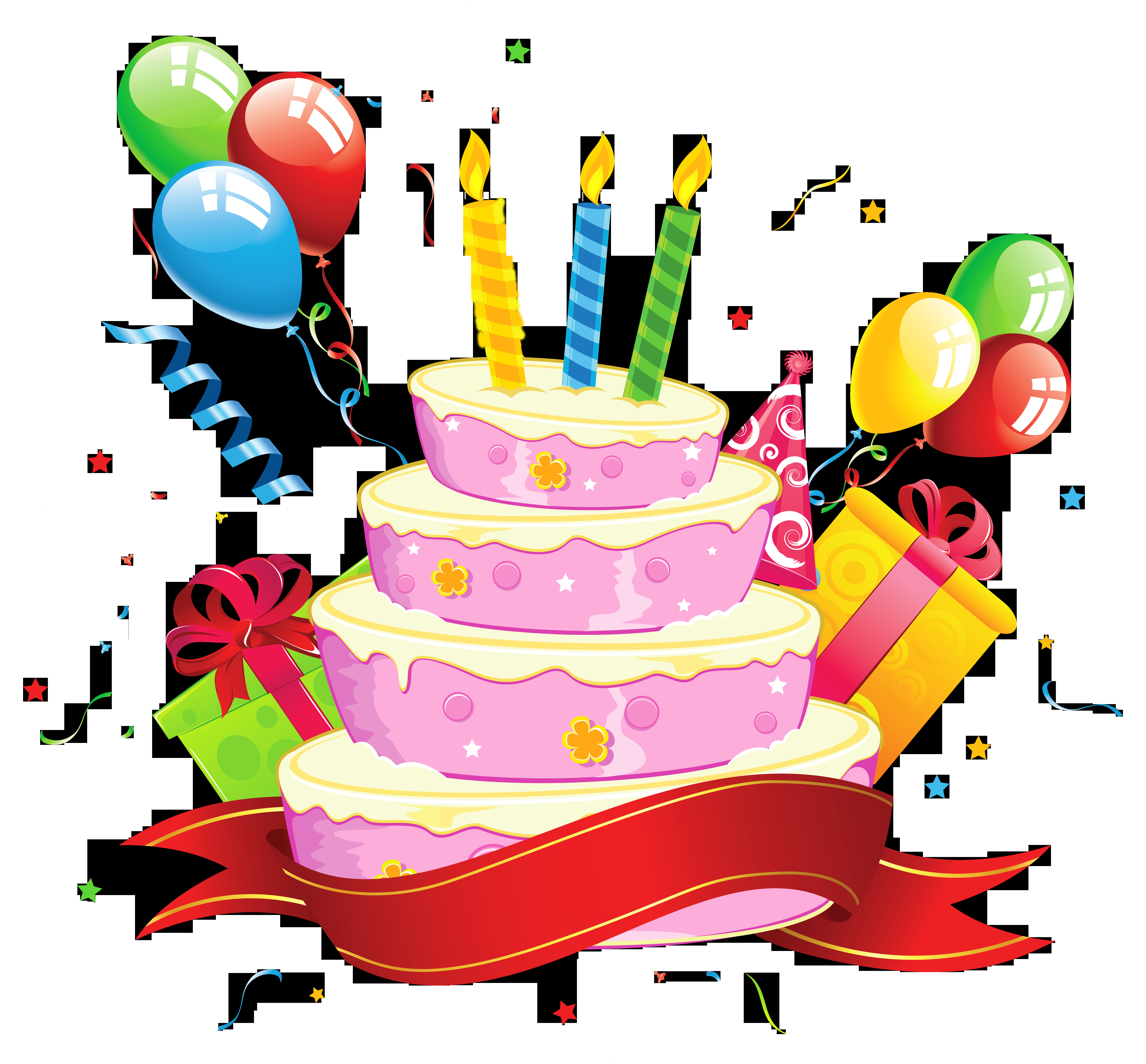 Clipart Birthday Cake  Cake clipart transparent background Pencil and in color