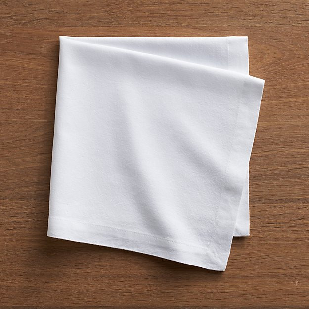 Cloth Dinner Napkins  Abode White Cloth Dinner Napkin