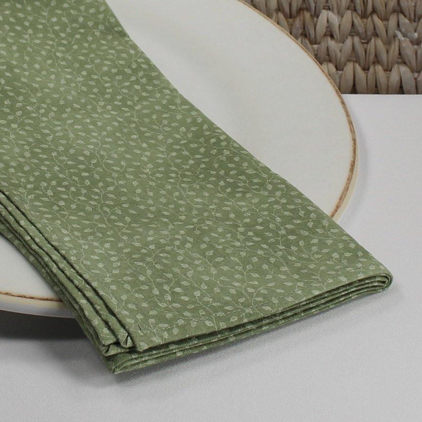 Cloth Dinner Napkins  Fabric dinner napkins calico napkins cloth serviettes green
