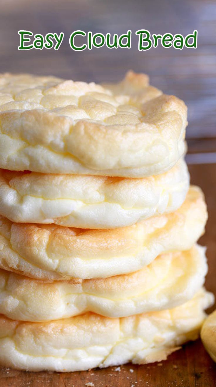Cloud Bread Recipes  cloud bread with sour cream