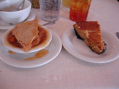 Cobbler Vs Pie  Peach Cobbler vs Peanut Butter Pie at Mary Mac s Tea Room
