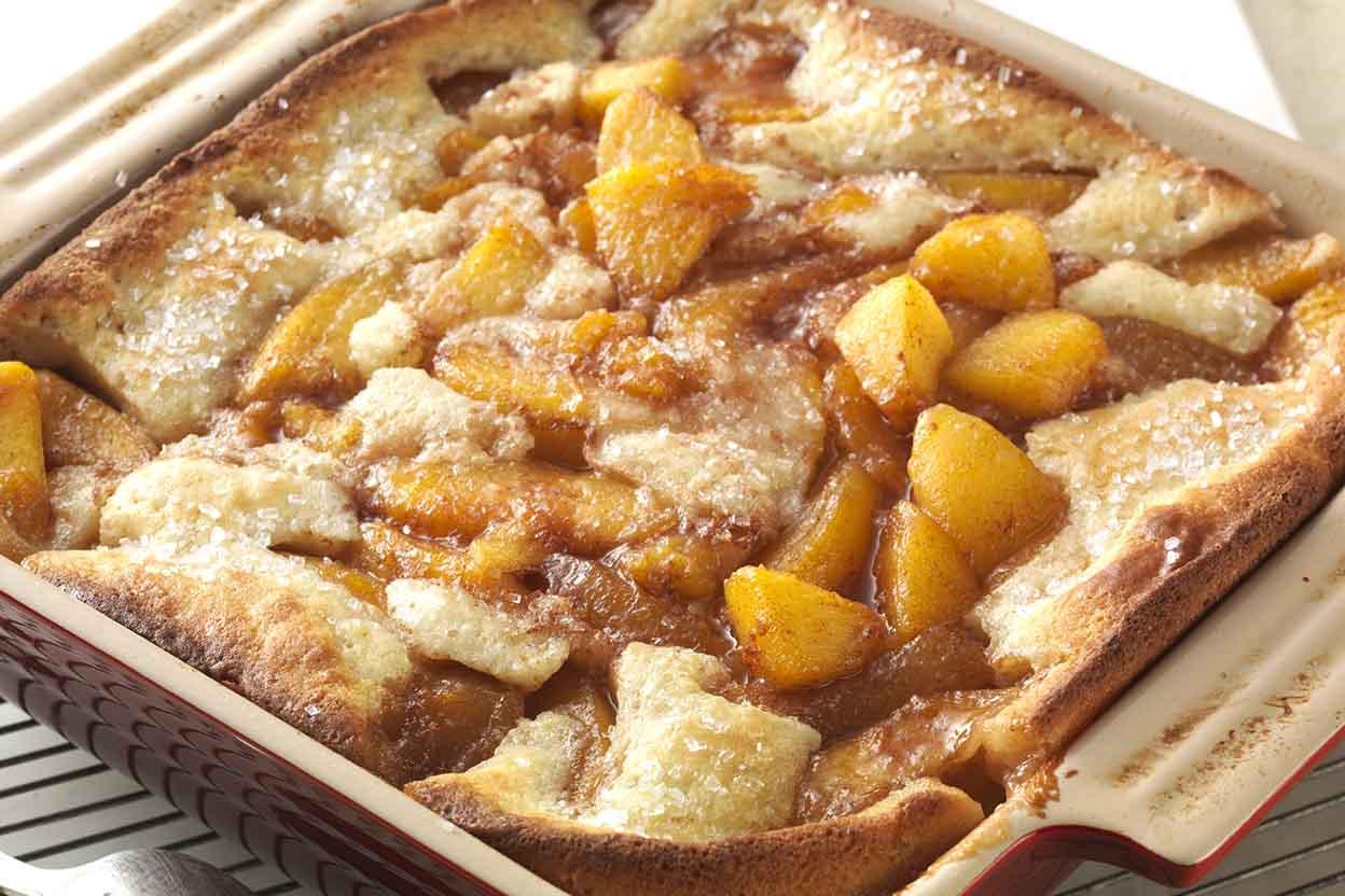Cobbler Vs Pie  Gluten Free Peach Cobbler made with baking mix Recipe