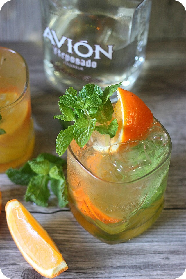 Cocktails With Tequila  Orange Mint Tequila Cocktail