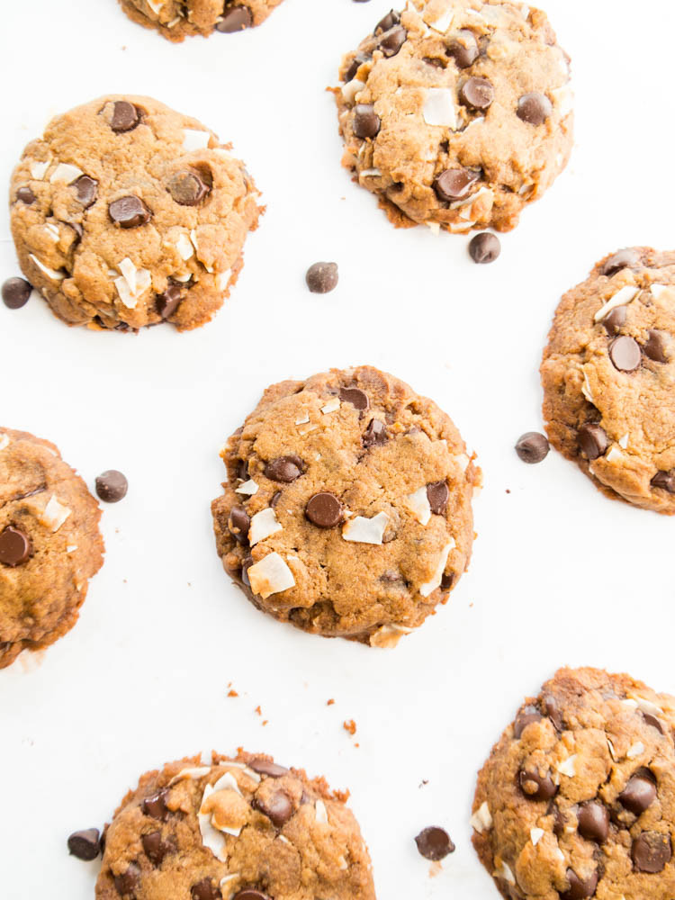 Coconut Chocolate Chip Cookies  Chocolate Chip Coconut Cookies The Glowing Fridge