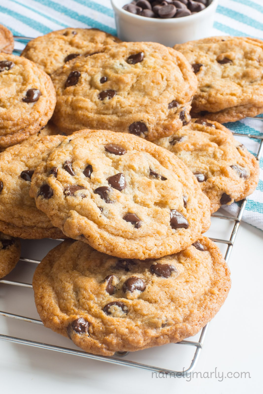 Coconut Chocolate Chip Cookies  Vegan Coconut Chocolate Chip Cookies Namely Marly