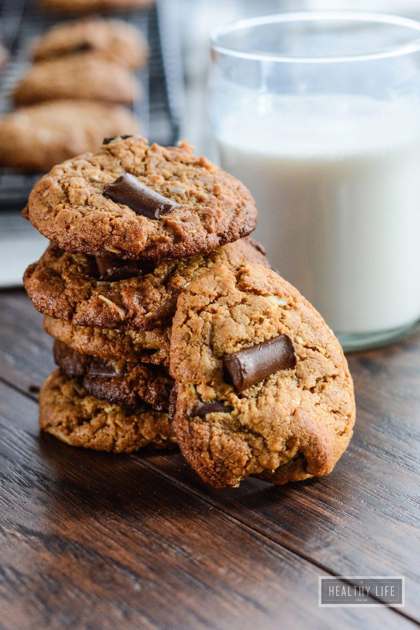 Coconut Chocolate Chip Cookies  Cashew Coconut Chocolate Chip Cookies paleo gluten free