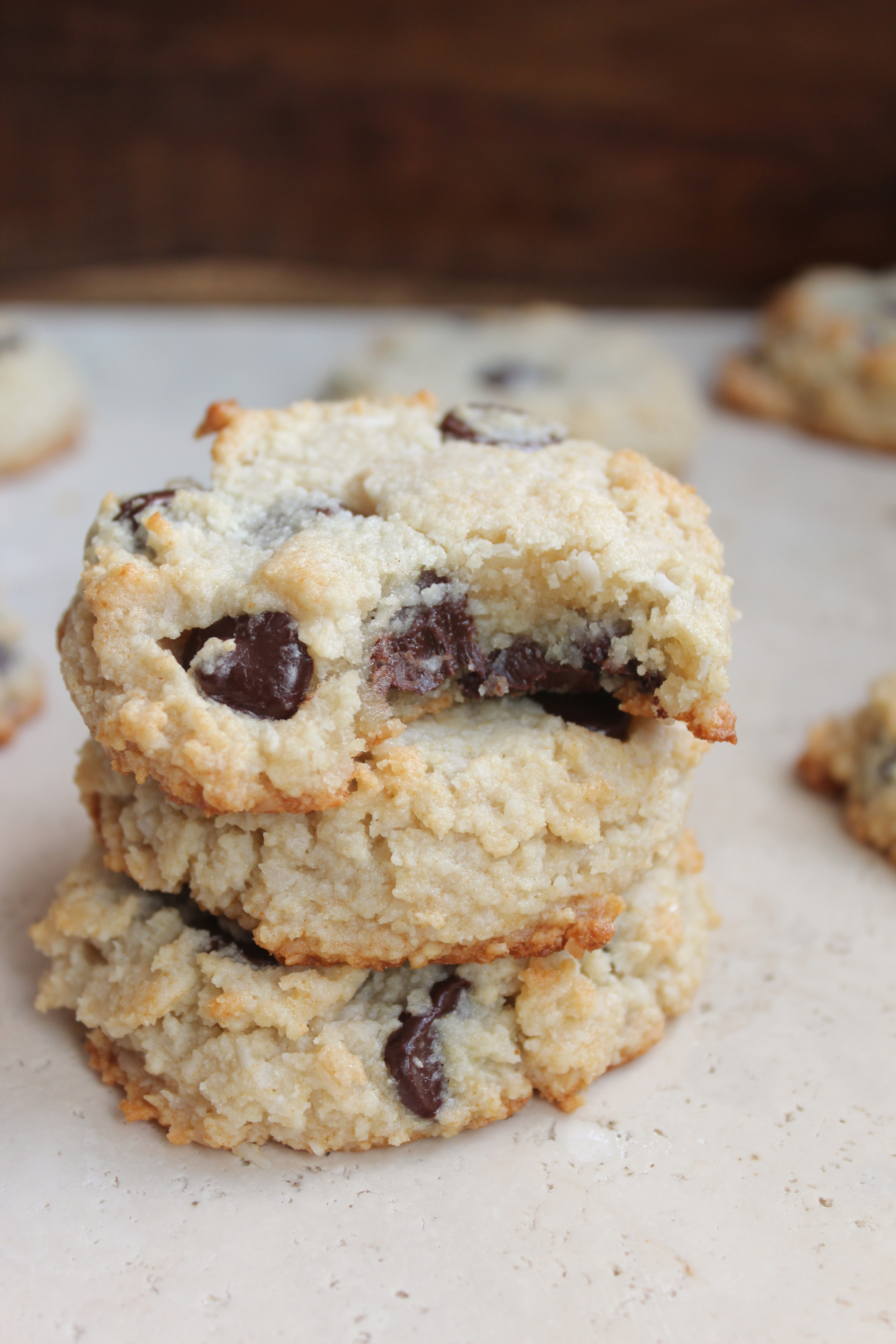 Coconut Chocolate Chip Cookies  Chocolate Chip Coconut & Almond Flour Cookies Paleo