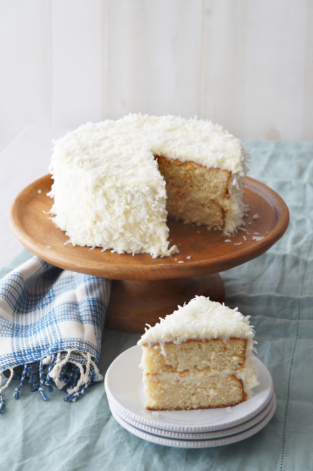 Coconut Cream Cake  A Coconut Cake Recipe from the Latest Pottery Barn Catalog