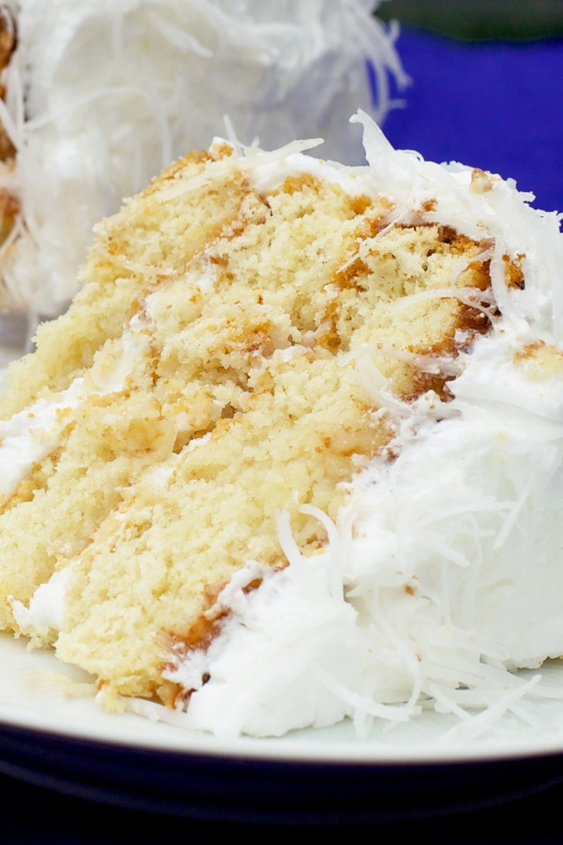 Coconut Cream Cake  Fresh Coconut Cake with Lemon Cream Cheese Filling