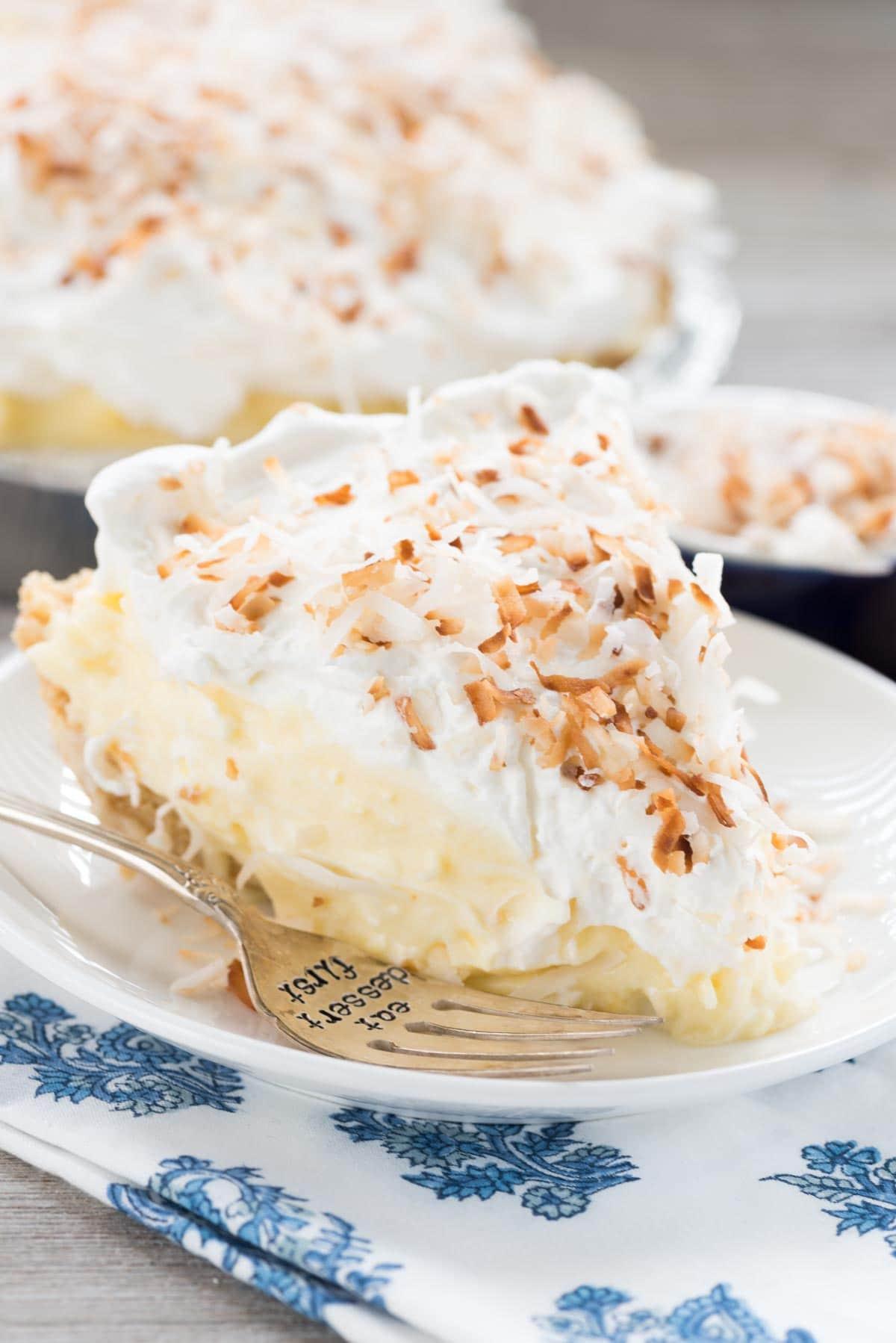 Coconut Cream Pie  Easy No Bake Coconut Cream Pie Crazy for Crust