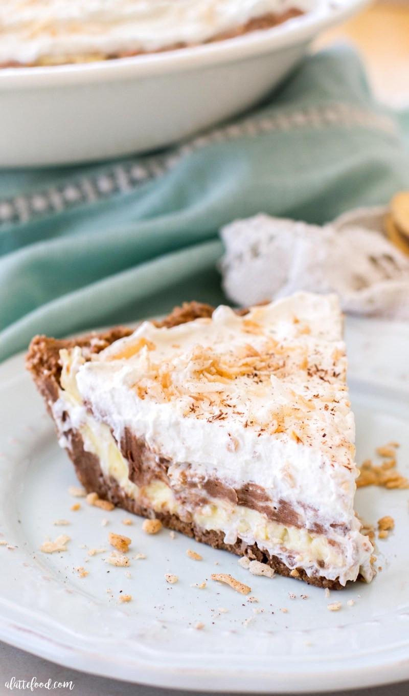 Coconut Cream Pie  No Bake  Chocolate Coconut Cream Pie A Latte Food