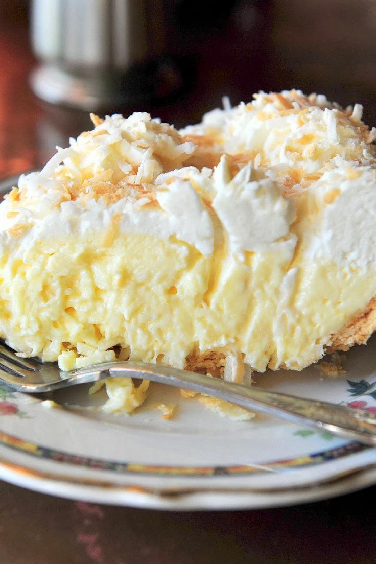 Coconut Cream Pie  Old Fashioned Coconut Cream Pie