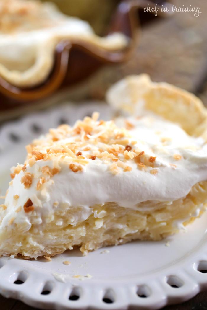 Coconut Cream Pie  Coconut Cream Pie Chef in Training