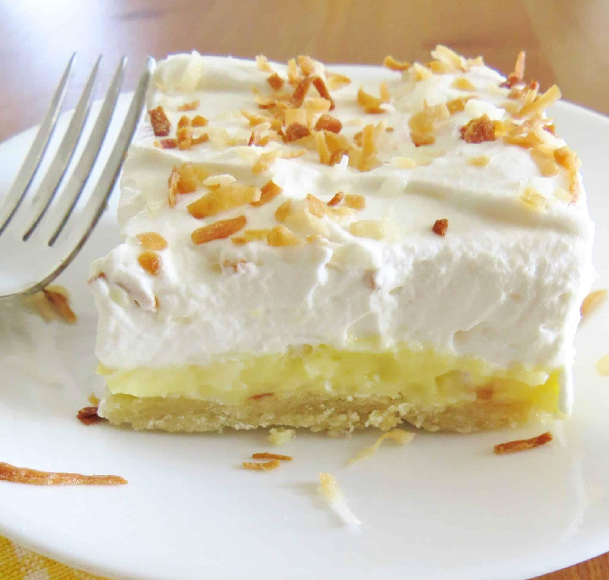 Coconut Cream Pie  Coconut Cream Pie Bars The Country Cook
