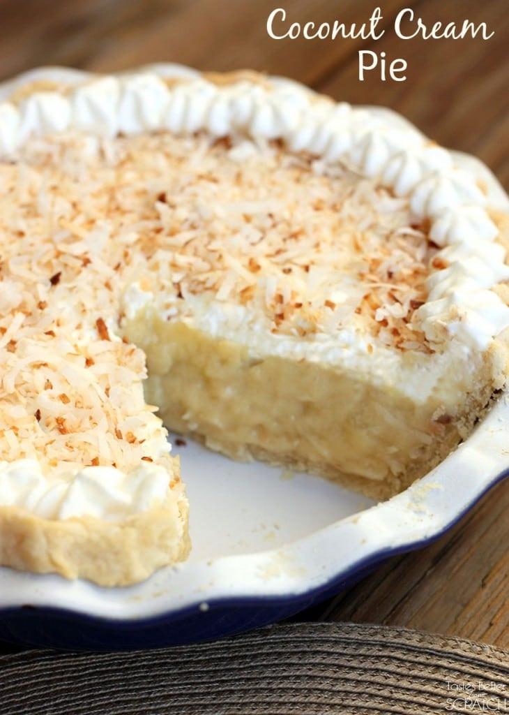 Coconut Cream Pie  Delicious Coconut Cream Pie Recipe