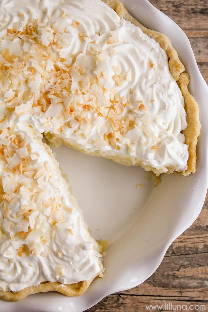 Coconut Cream Pie  Coconut Cream Pie recipe