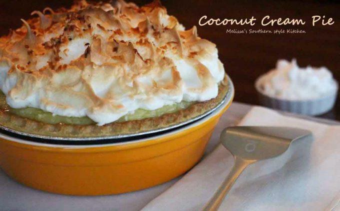 Coconut Cream Pie With Meringue  Coconut Cream Pie melissassouthernstylekitchen